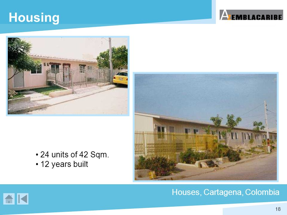 Housing 24 units of 42 Sqm. 12 years built Houses, Cartagena, Colombia