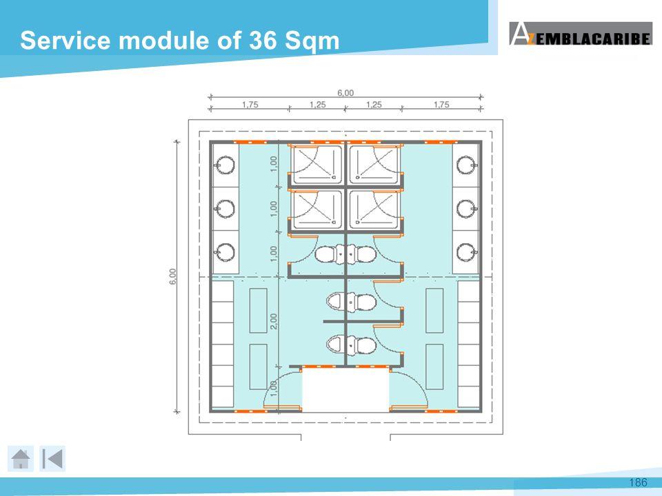 Service module of 36 Sqm