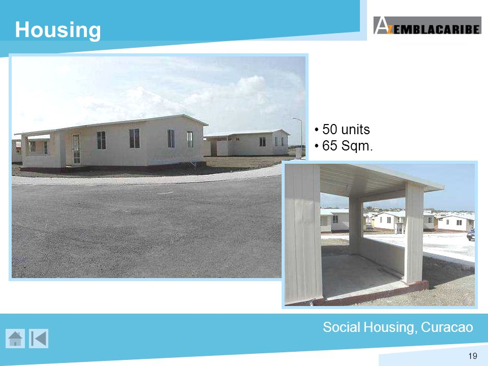 Housing 50 units 65 Sqm. Social Housing, Curacao