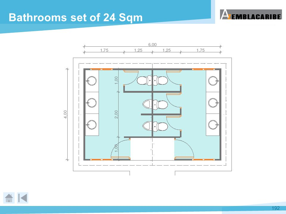 Bathrooms set of 24 Sqm