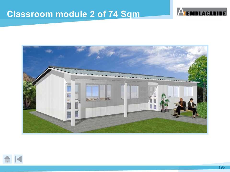 Classroom module 2 of 74 Sqm