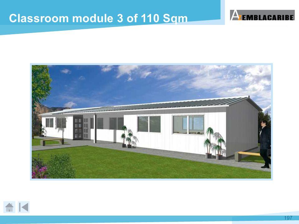 Classroom module 3 of 110 Sqm