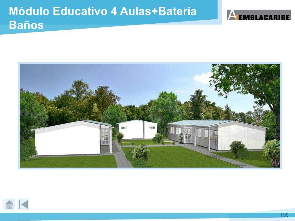 Módulo Educativo 4 Aulas+Batería Baños