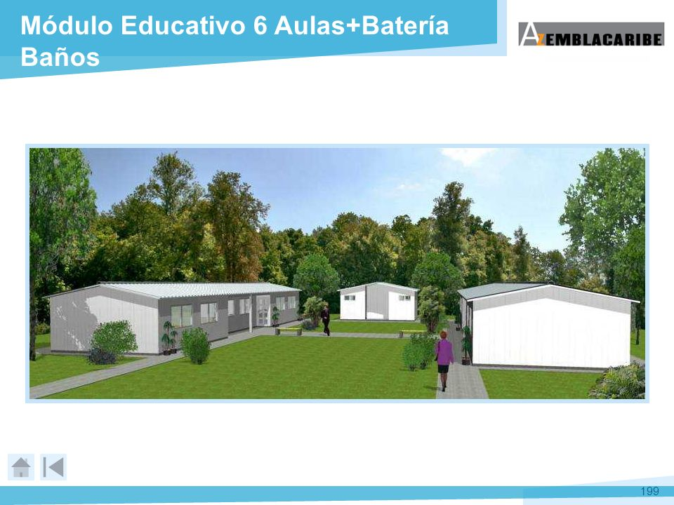 Módulo Educativo 6 Aulas+Batería Baños
