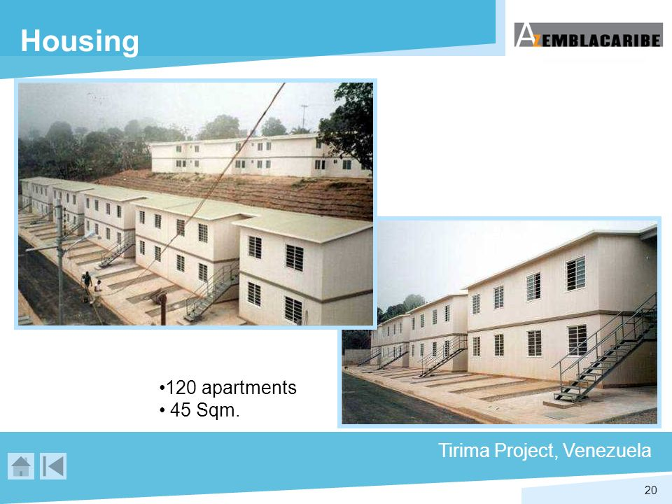 Housing 120 apartments 45 Sqm. Tirima Project, Venezuela
