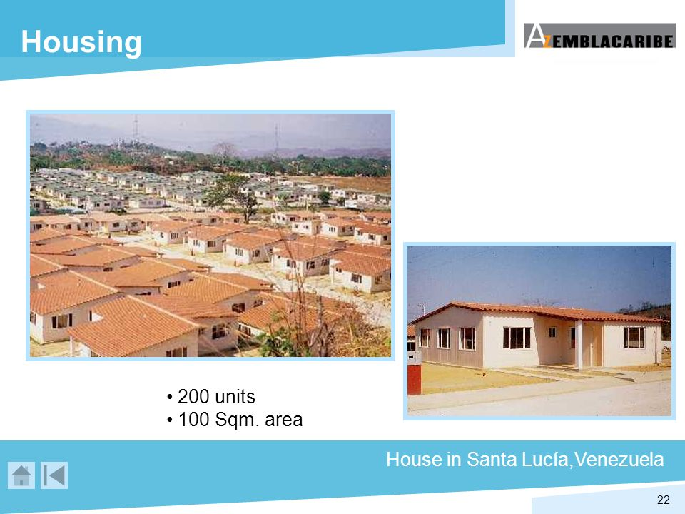 Housing 200 units 100 Sqm. area House in Santa Lucía,Venezuela