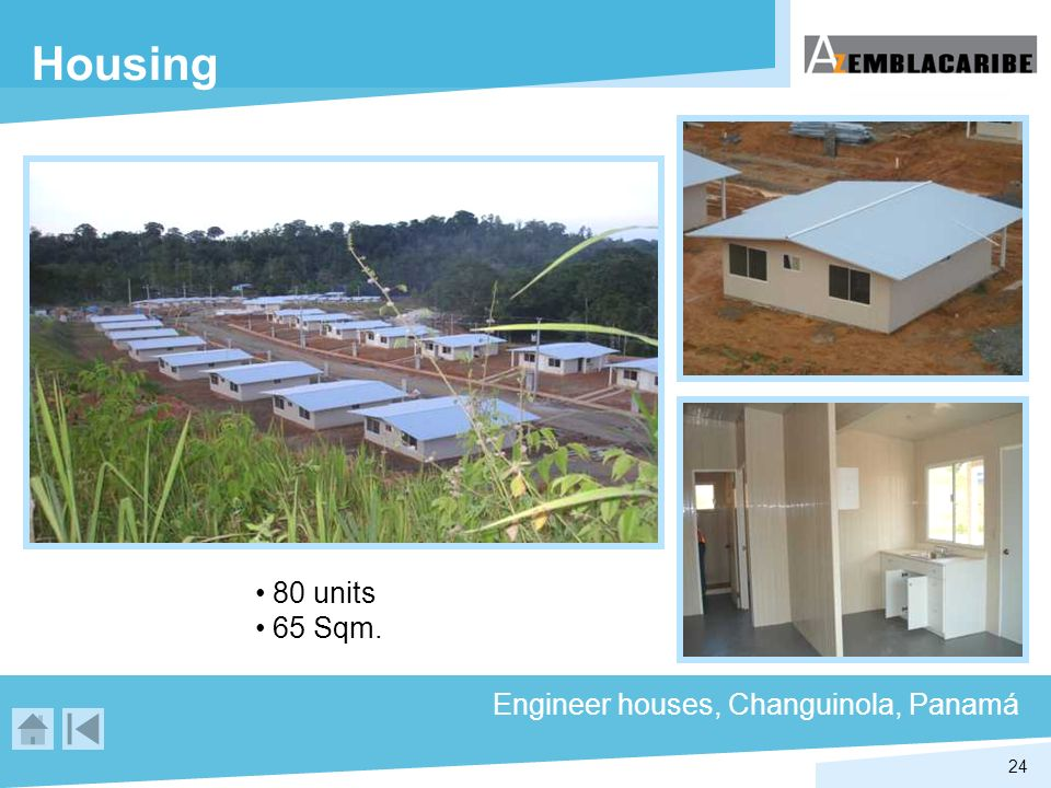 Housing 80 units 65 Sqm. Engineer houses, Changuinola, Panamá