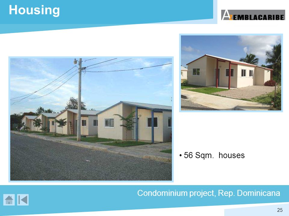 Housing 56 Sqm. houses Condominium project, Rep. Dominicana