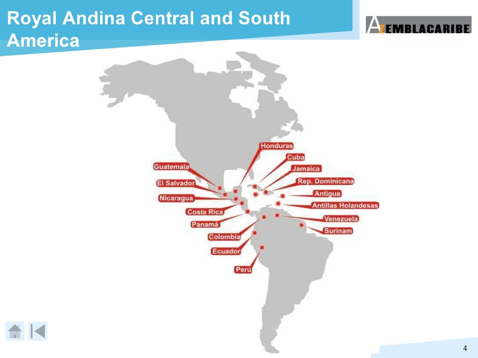 Royal Andina Central and South America