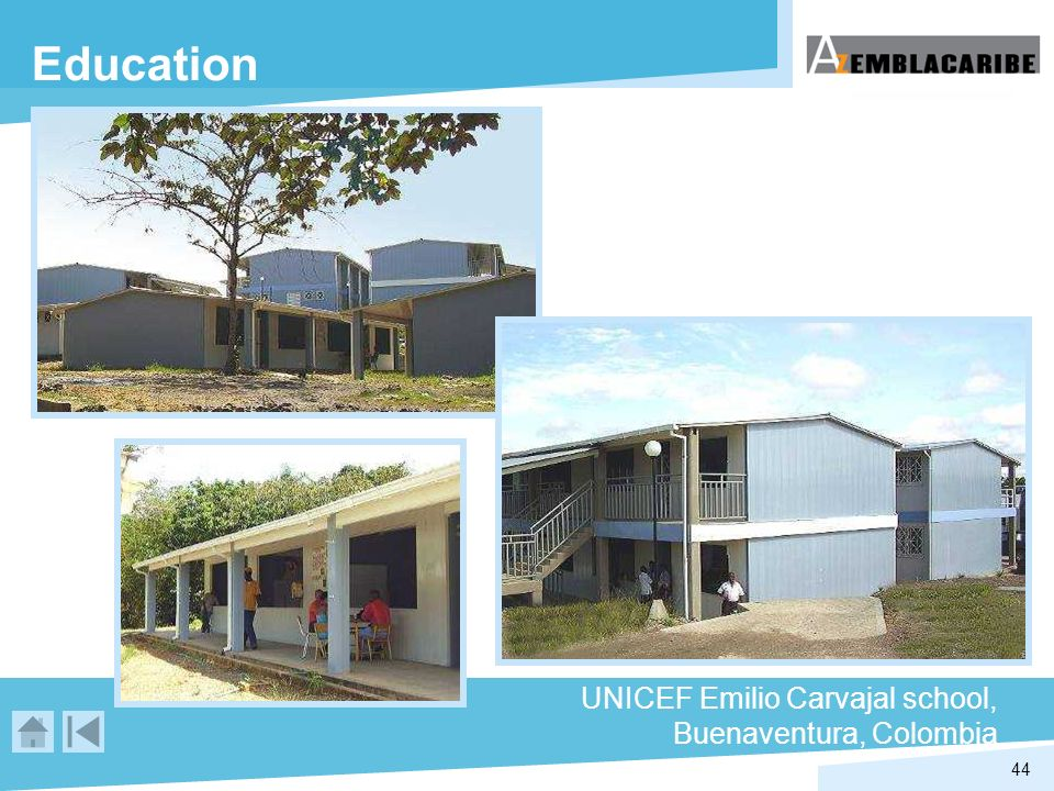 Education UNICEF Emilio Carvajal school, Buenaventura, Colombia