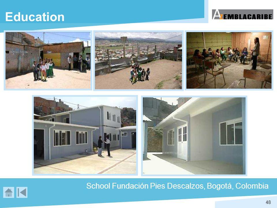 Education School Fundación Pies Descalzos, Bogotá, Colombia