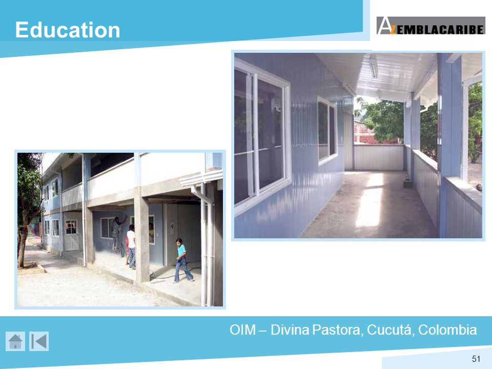 Education OIM – Divina Pastora, Cucutá, Colombia