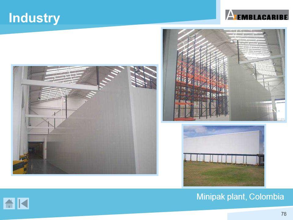 Industry Minipak plant, Colombia