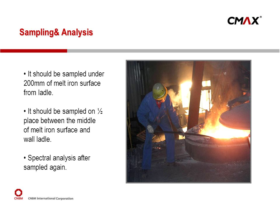 Sampling& Analysis It should be sampled under