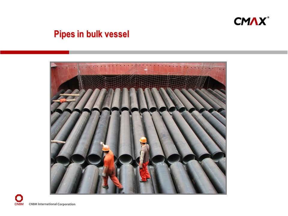 Pipes in bulk vessel