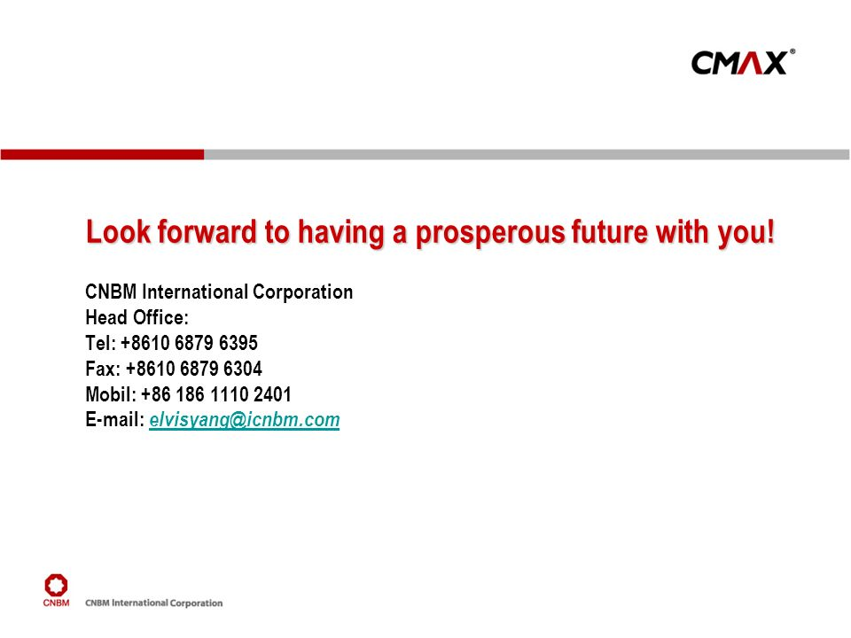 Look forward to having a prosperous future with you!