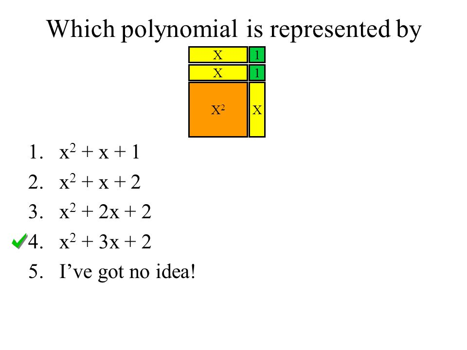 Which polynomial is represented by