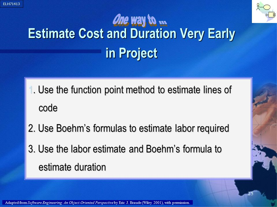 Estimate Cost and Duration Very Early in Project