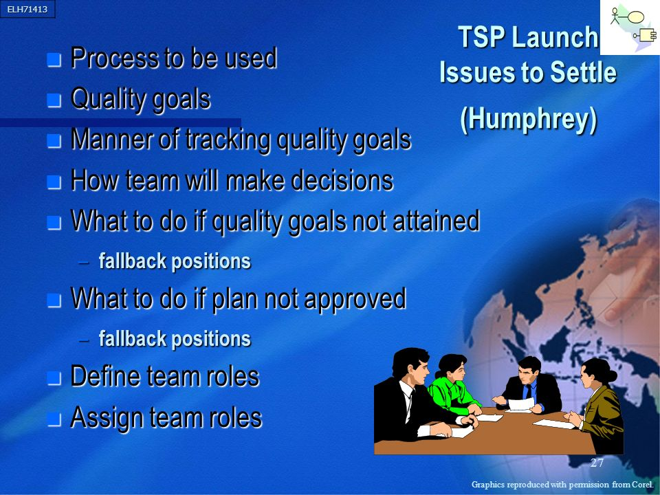 TSP Launch Issues to Settle (Humphrey)