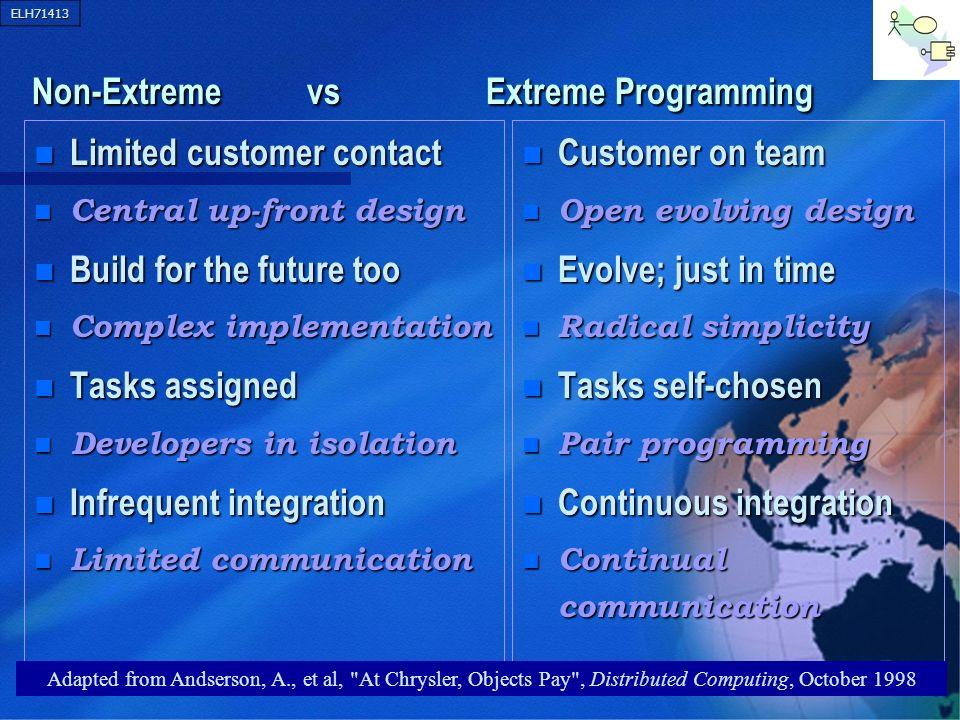 Non-Extreme vs Extreme Programming