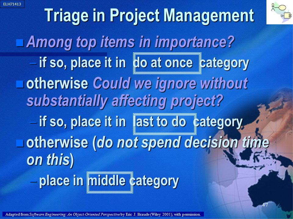 Triage in Project Management