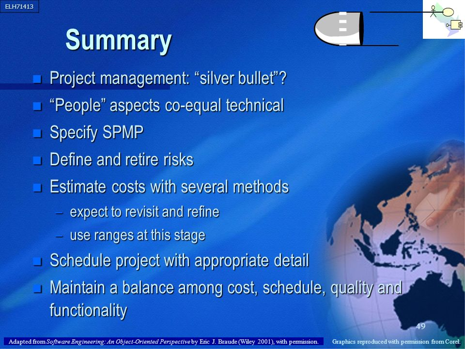 Summary Project management: silver bullet