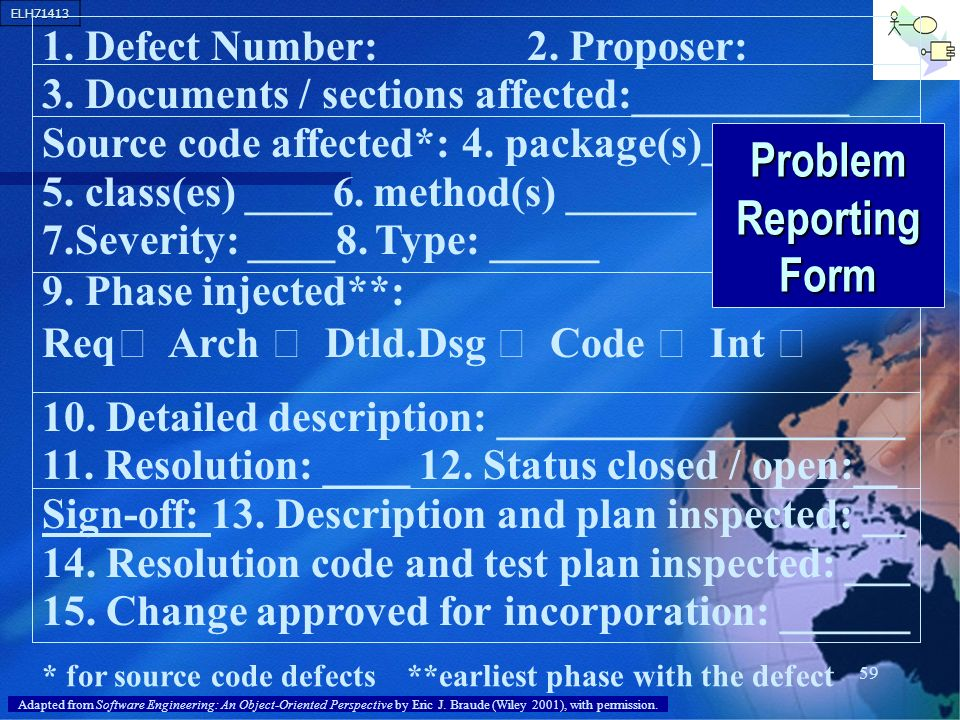 Problem Reporting Form