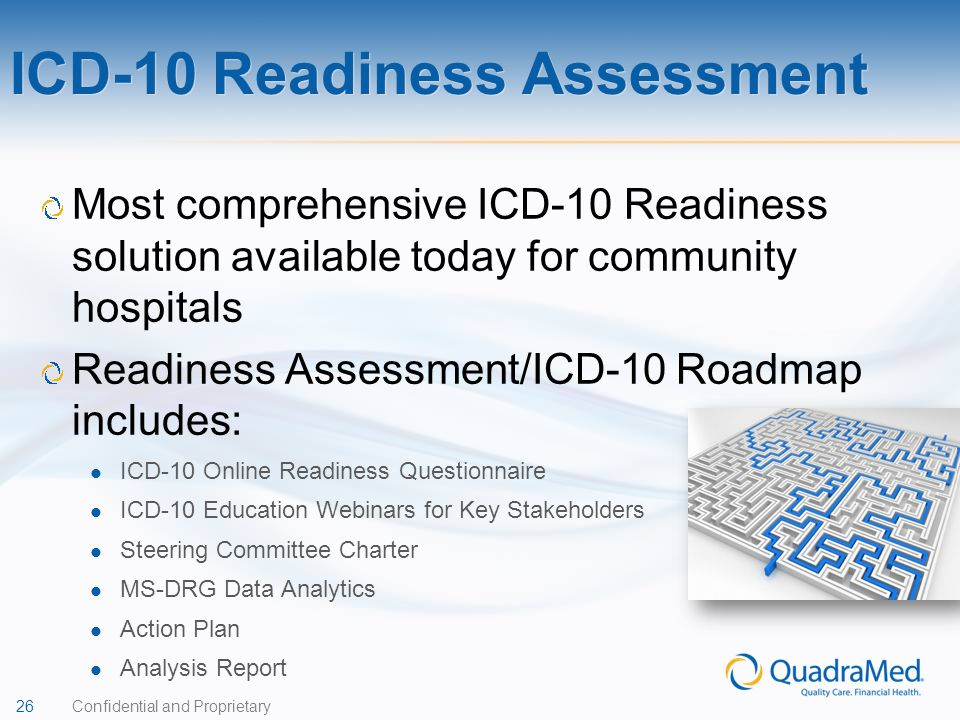 ICD-10 Readiness Assessment