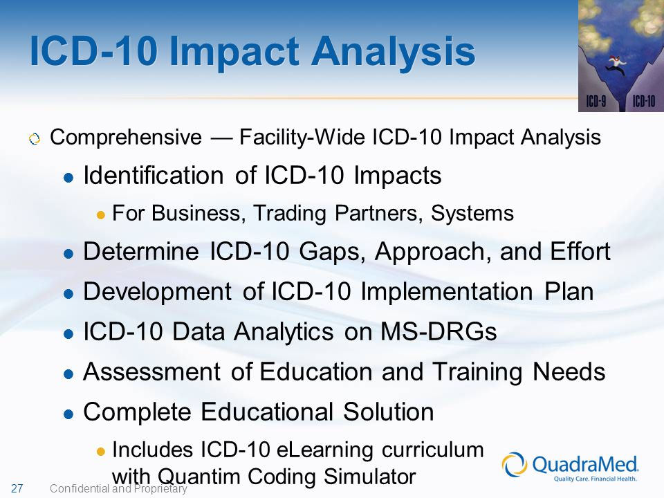 ICD-10 Impact Analysis Identification of ICD-10 Impacts