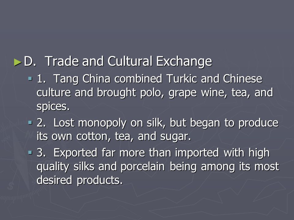 D. Trade and Cultural Exchange