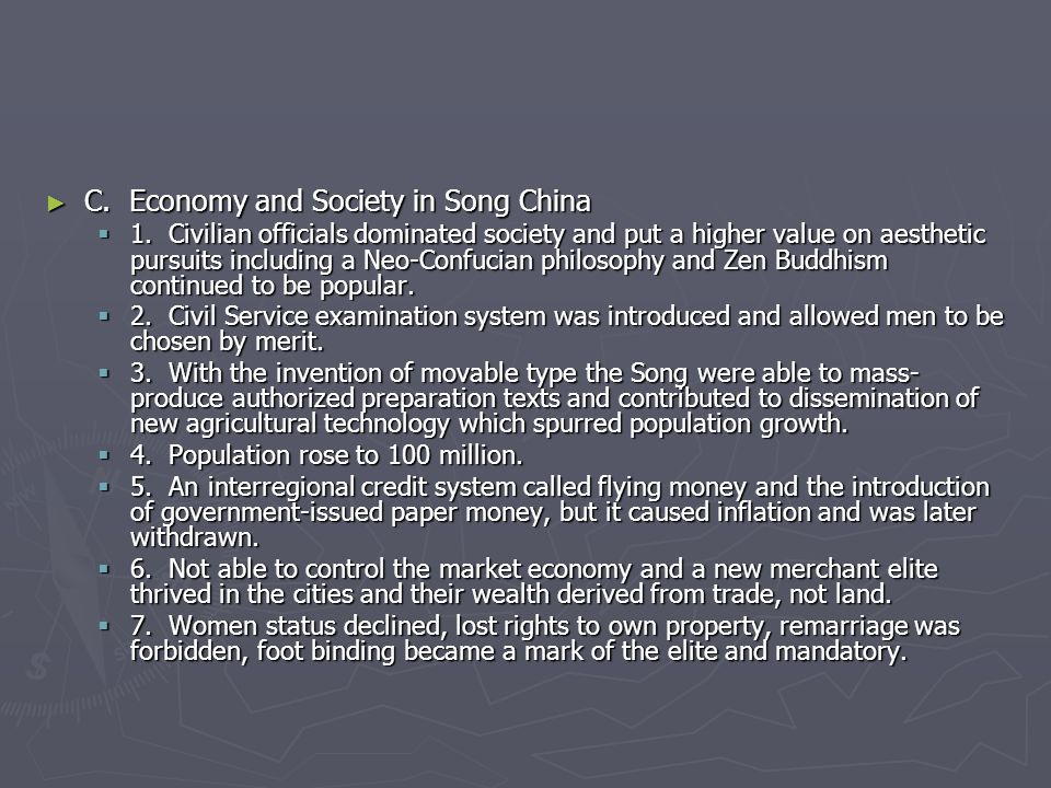 C. Economy and Society in Song China
