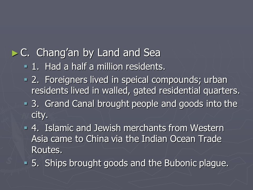 C. Chang'an by Land and Sea