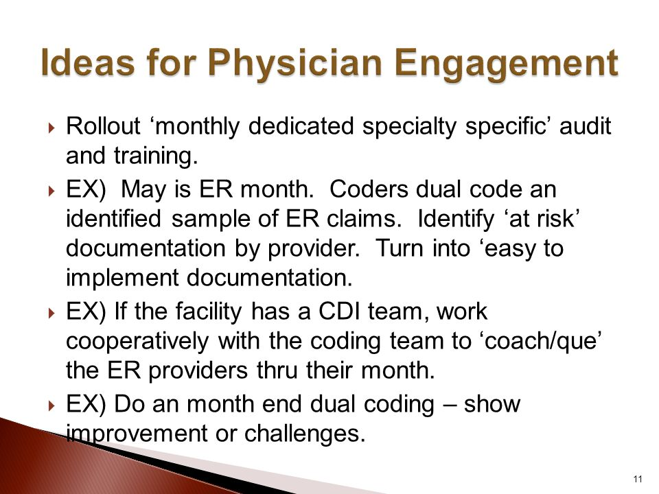 Ideas for Physician Engagement