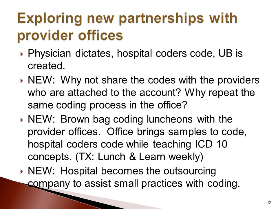 Exploring new partnerships with provider offices