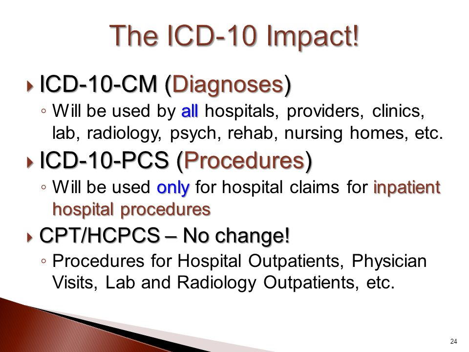 The ICD-10 Impact! ICD-10-CM (Diagnoses) ICD-10-PCS (Procedures)