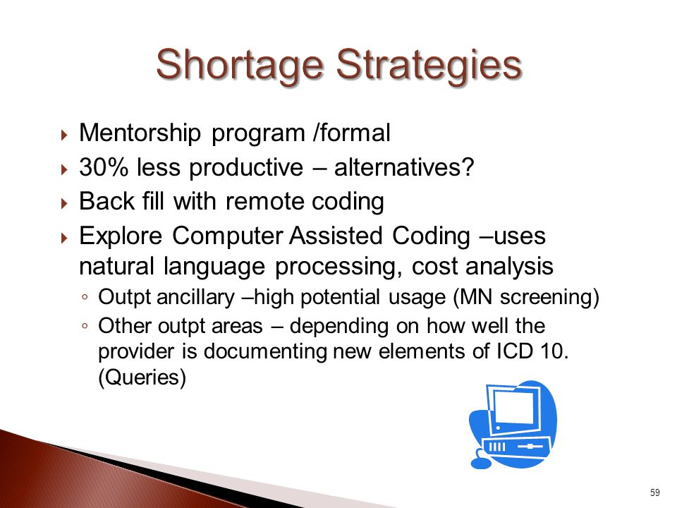 Shortage Strategies Mentorship program /formal