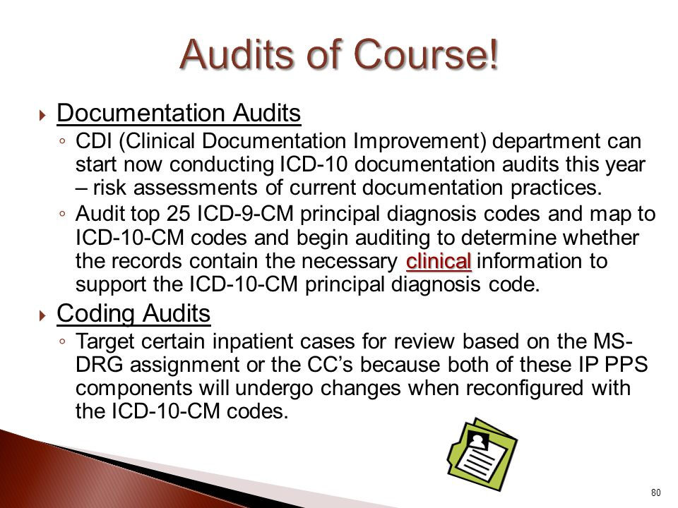 Audits of Course! Documentation Audits Coding Audits