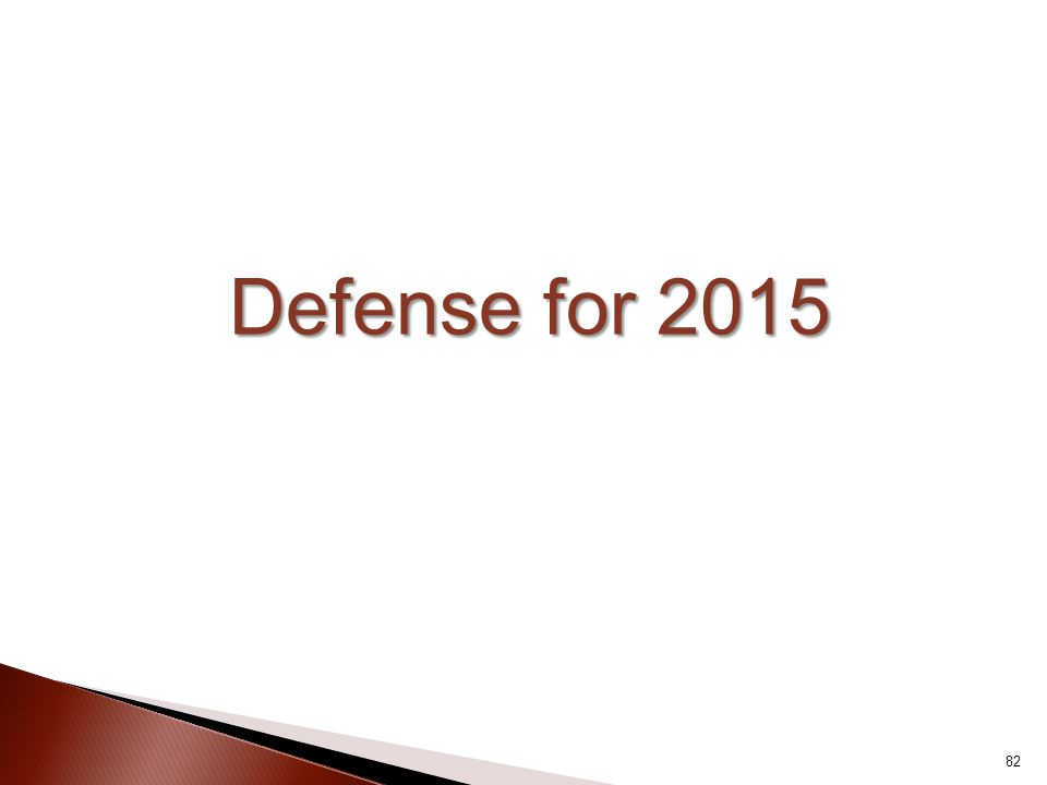 Defense for 2015