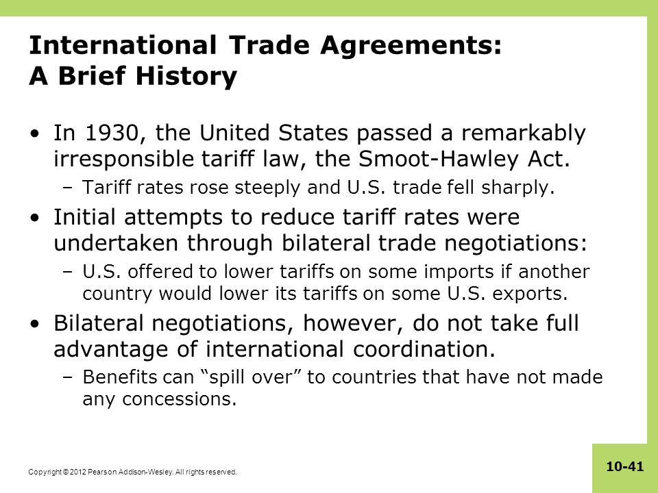 International Trade Agreements: A Brief History
