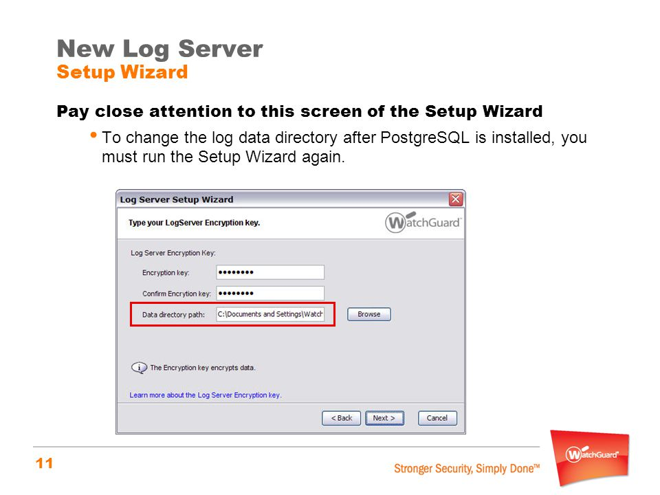New Log Server Setup Wizard