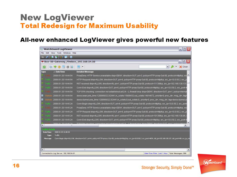 New LogViewer Total Redesign for Maximum Usability