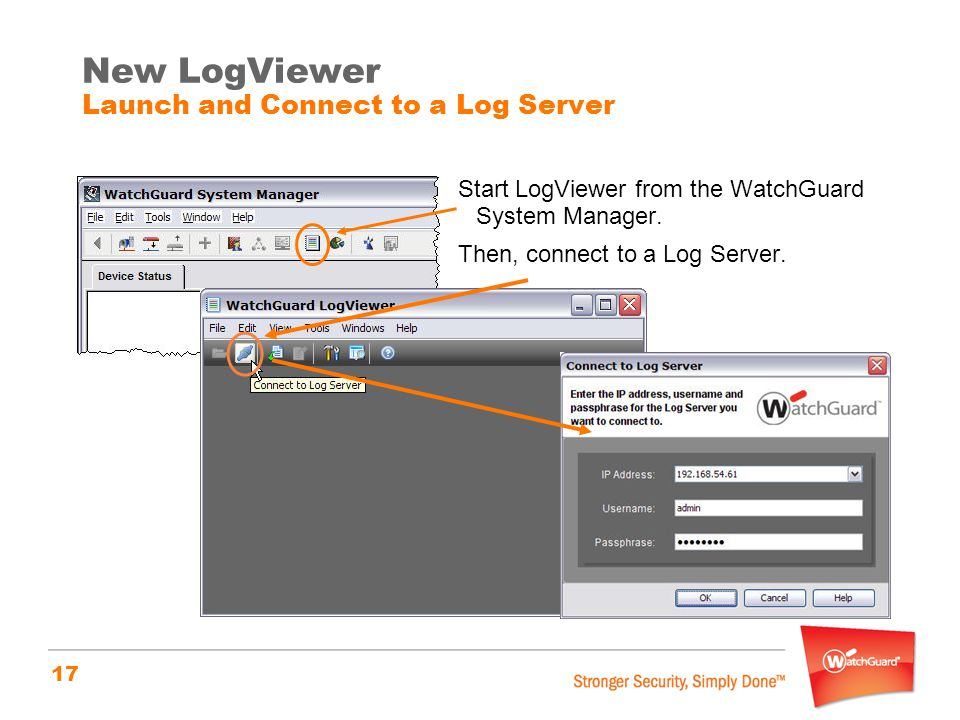 New LogViewer Launch and Connect to a Log Server