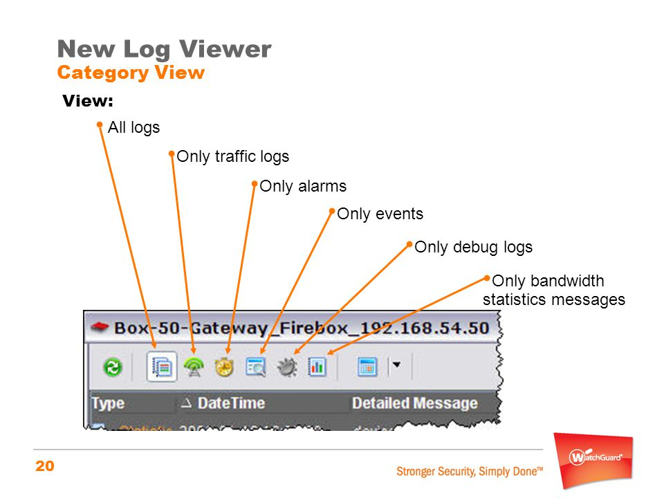 New Log Viewer Category View