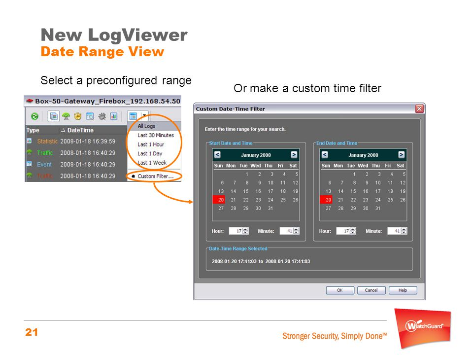 New LogViewer Date Range View