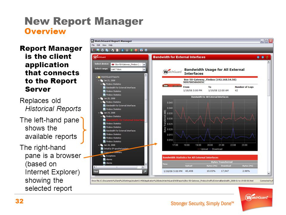 New Report Manager Overview