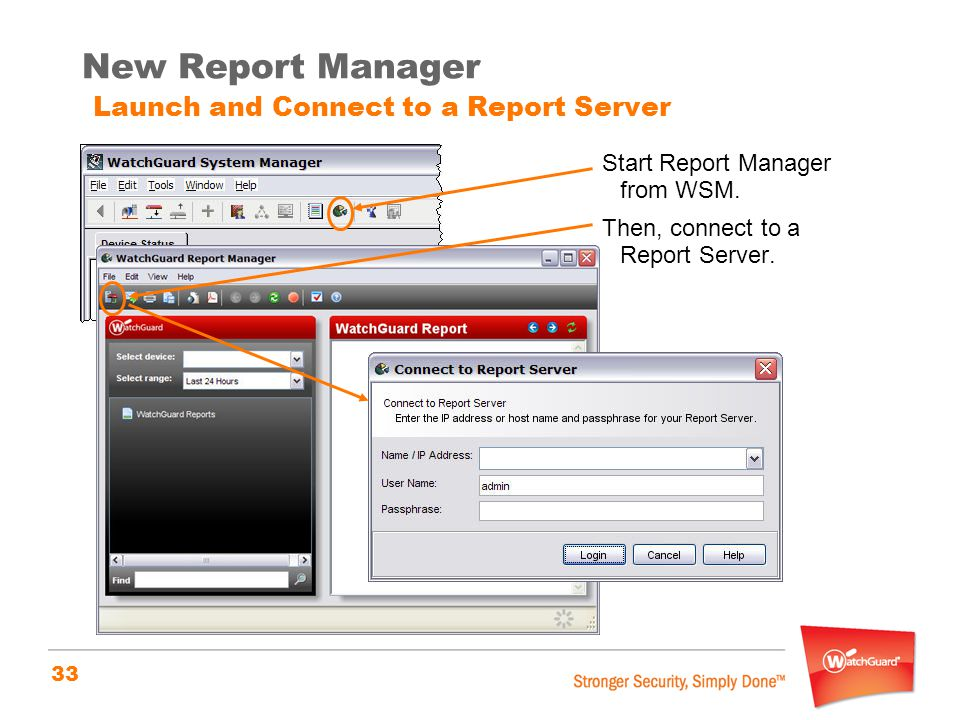 New Report Manager Launch and Connect to a Report Server