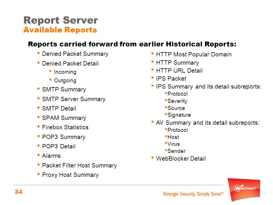 Report Server Available Reports
