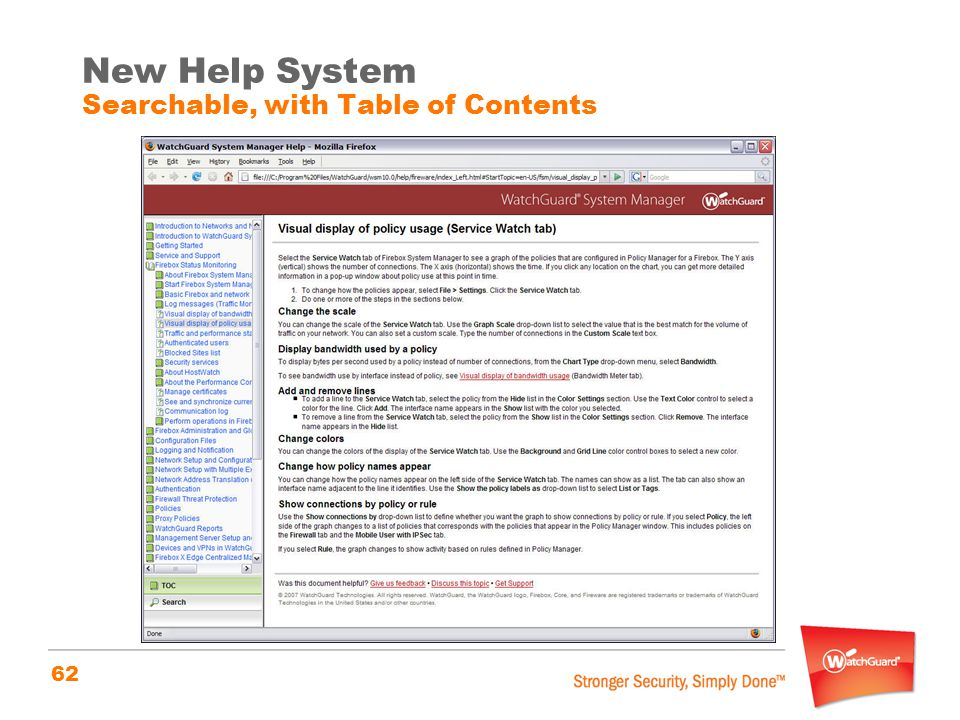 New Help System Searchable, with Table of Contents