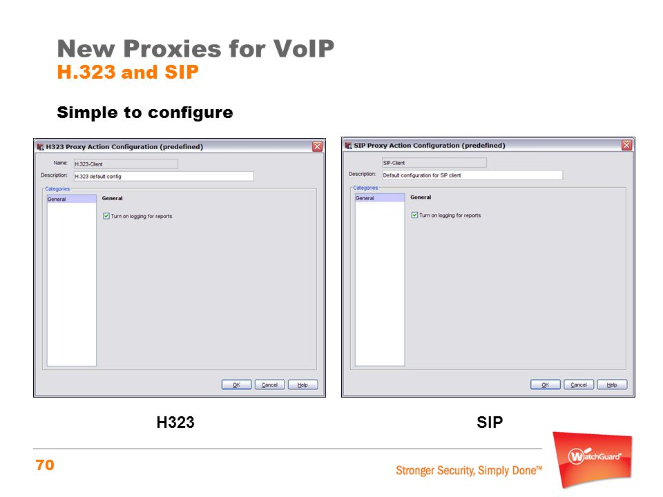 New Proxies for VoIP H.323 and SIP