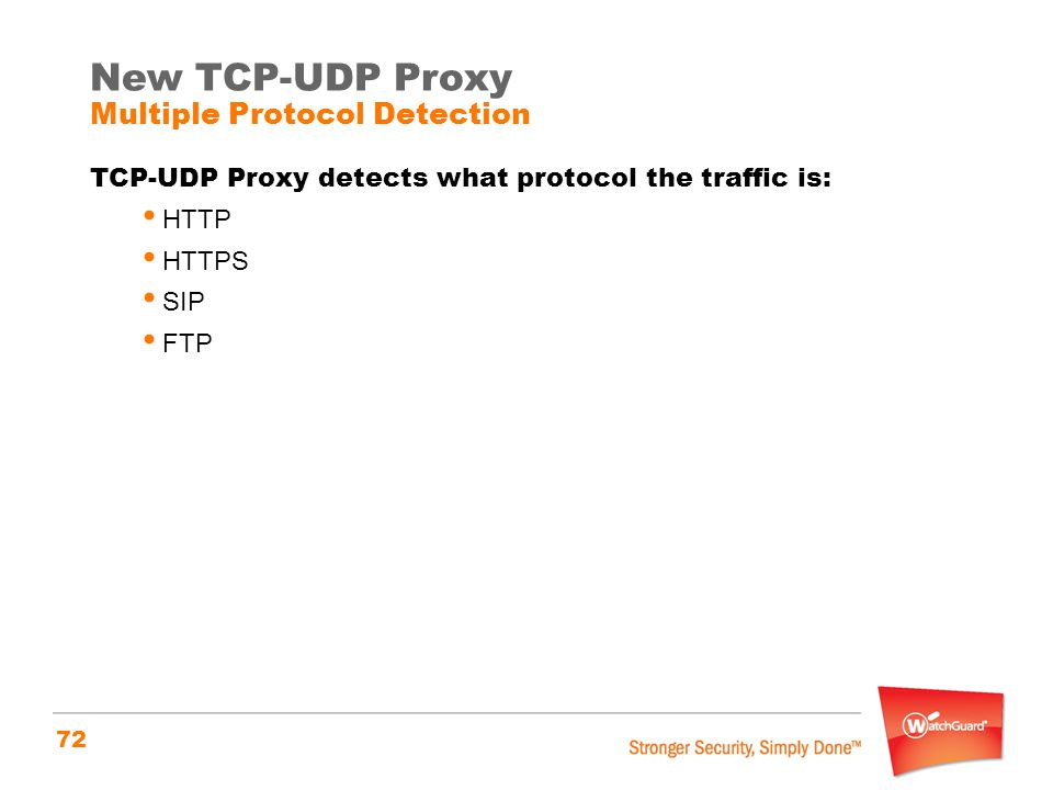 New TCP-UDP Proxy Multiple Protocol Detection